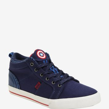 L.A. Gear Marvel Captain America Hi-Top Sneakers