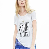 "Banana Republic Womens ""Outside The Box"" Graphic Tee"
