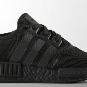 VLX85E Beauty Ticks Adidas Nmd R1 Triple Black Mesh Core All Blackout Boost S31508 Sz 8~13 Authentic