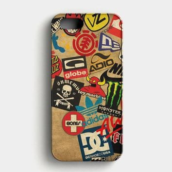 Skateboard Dc Vans Globe Adidas iPhone SE Case