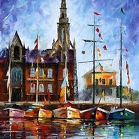"ANTWERP - BELGIUM — Oil Painting On Canvas By Leonid Afremov.  24""x30"""