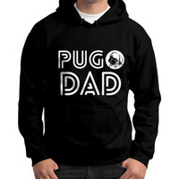 PUG DAD Gildan Hoodie (on man)