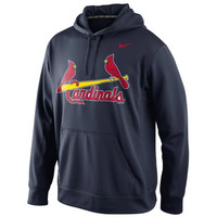 Nike St. Louis Cardinals MLB Wordmark Therma-FIT Performance Hoodie - Navy Blue