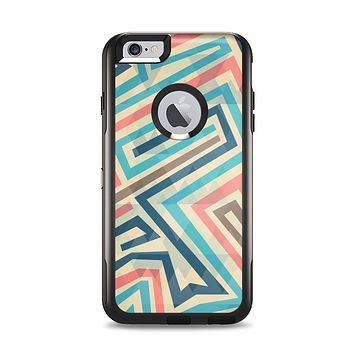 The Retro Colored Maze Pattern Apple iPhone 6 Plus Otterbox Commuter Case Skin Set