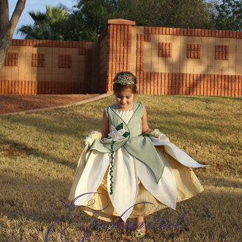 Tiana, the Princess and the Frog Ballgown Deluxe Disney Princess Dress Size 6 costume