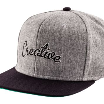creative recreation snapback grey 2-tone