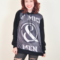 Of Mice & Men Restoring Force Punk Rock Hoodie Jacket Biker Sweater Tops Women Girl Sz S,M,L