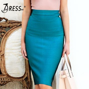 Pencil Knee Length Party Bandage Women Skirt