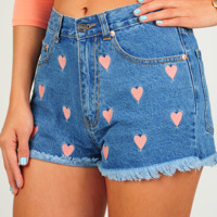 Look Of Love Shorts: Denim