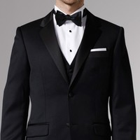 PREMIUM BLACK THREE-PIECE TUXEDO