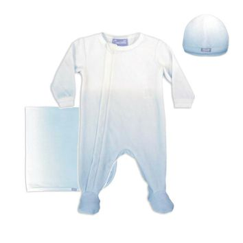 Coccoli Baby Boys' Blue Ombre Velour 3 Piece Set