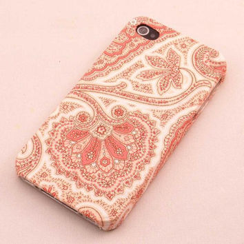 Fabric iPhone 4 4s Case handmade,Floral iPhone 4 Case, Pink pattern iPhone Case, Christmas iPhone Case 4 4s flower cover case