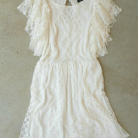 Romantic White Ruffle Dress [4344] - $32.00 : Vintage Inspired Clothing & Affordable Summer Frocks, deloom   Modern. Vintage. Crafted.