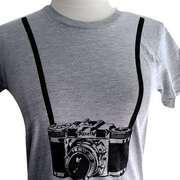 Camera Crazy Photography Lover  Ladies' T-shirt (Available in sizes S, M, L, XL)