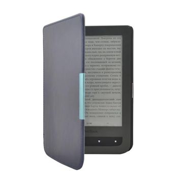 Ultra thin slim PU leather cover case for pocketbook touch lux 3 Ruby Red for pocketbook 614 plus pocketbook 615/625 ereader