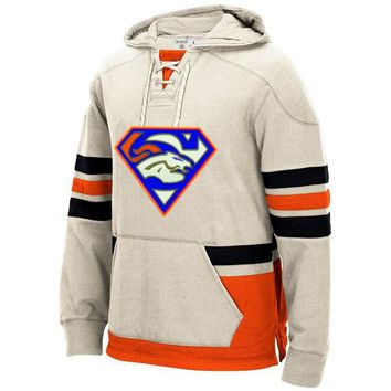 Denver Winter New Designs Broncos Fans Superman S Logo Stitching Sweatshirt, Accept Custom Any Name And Number Hoodies Pullover