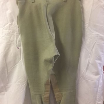 26 R Cotton Naturals Tan Breeches like new with knee patches