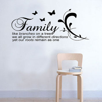 Large Family like Branches on a Tree Inspirational Wall Sticker vinyl Decal Art