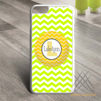 Yellow Grey Chevron Monogram Custom case for iPhone, iPod and iPad