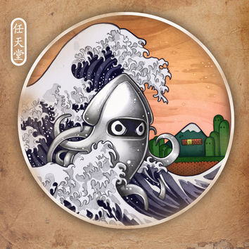 THE GREAT WAVE Art Print by Tim Shumate