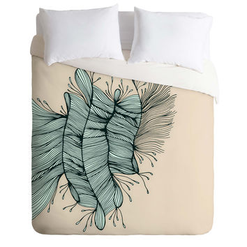 Gabi Birds Of A Feather 1 Duvet Cover