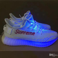 Adidas Yeezy 350 V2 Boost Sup White Supreme x Fashion Running Shoes for Womens Mens SPLY 350V2 Sports Shoes Yeezys YZY 350 Sneakers