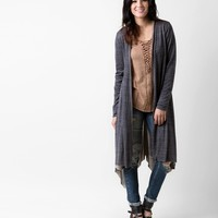 Gilded Intent Raw Edge Duster Cardigan