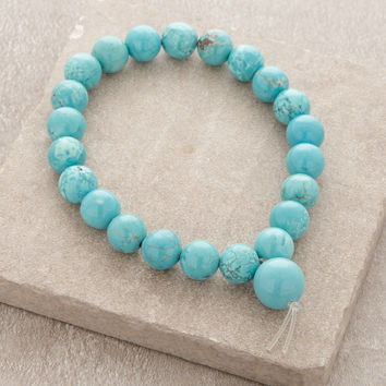 High-Energy Turquoise Wrist Mala