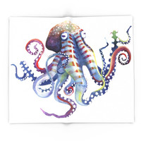 Society6 Octopus Blanket