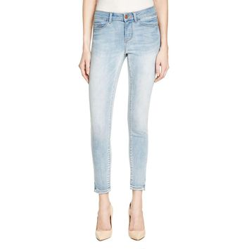 Noisy May Womens Light Wash Released Hem Ankle Jeans