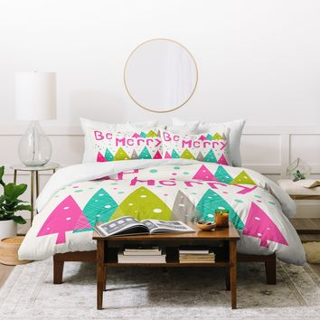 Heather Dutton Be Merry Duvet Cover