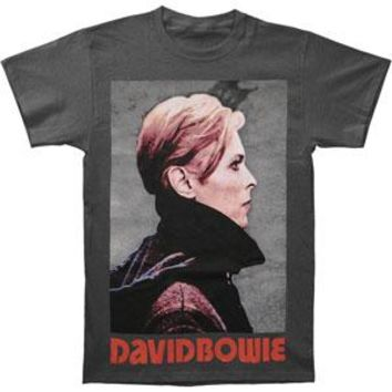 David Bowie Men's  Low Profile T-shirt Grey