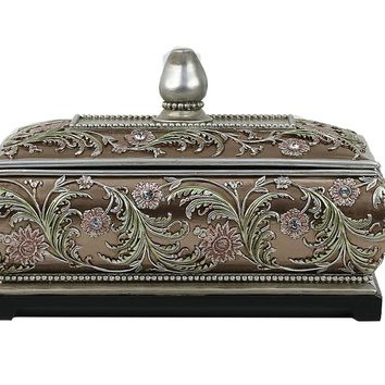 D'Lusso Designs Shandra Collection Large Jewelry Box