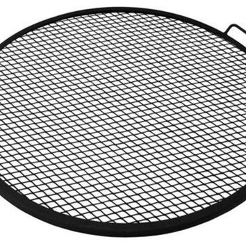 Sunnydaze X-Marks Fire Pit Cooking Grill 30 Inch Diameter