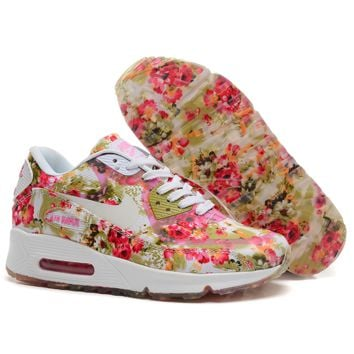 """NIKE"" Trending Fashion Casual Sports Air Cushion Shoes Flower Print G-MDTY-SHINING"