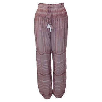 Embroidered Tassel Jogger Pant