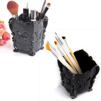 Butterfly Pattern Cosmetic Makeup Pen Brush Holder Storage Box Organizer