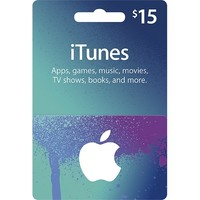 Apple - $15 iTunes Gift Card - Blue/Purple