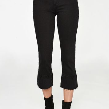 PacSun Glimmer Black High Rise Crop Kick Jeans at PacSun.com