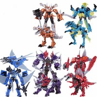 Hot Sale Deformation Toy Dinobots Grimlock Slug Strafe Slash Scorn Transformation Robot Brinquedos Action Figures Toys