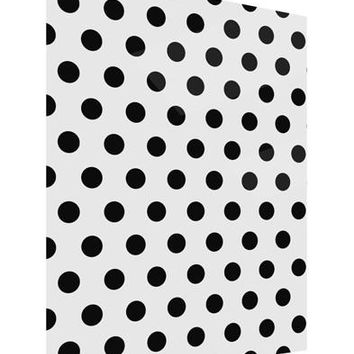 Black Polka Dots on White Gloss Poster Print Portrait - Choose Size by TooLoud