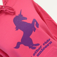Unicorn Hoodie - Pink CUTE Sweatshirt - Unisex Sizes S, M, L, XL