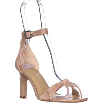 Marc Fisher Dalli Ankle Strap Heeled Sandals, Light Natural, 9.5 US