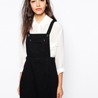 Glamorous Denim Pinafore Dress at asos.com