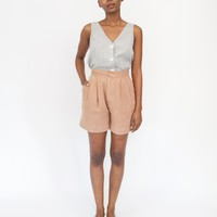 PENNY PLEATED SHORT - PECAN