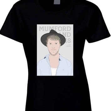 Mumford And Sons Ted Dwane Vektorize  Womens T Shirt