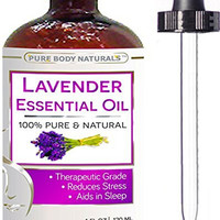 Lavender Essential Oil - Big 4 Oz - 100% Pure & Natural Therapeutic Grade - BEST PREMIUM QUALITY Oil From Bulgaria - Used in Aromatherapy & Massage. (1)