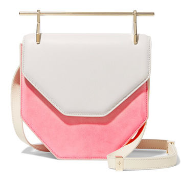 M2Malletier - Amor Fati two-tone suede and leather shoulder bag