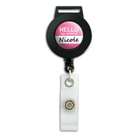 Nicole Hello My Name Is Retractable Badge Card ID Holder