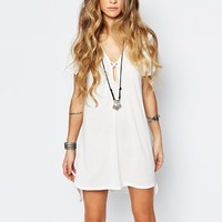 Glamorous Plunge Neck Dress with Cross Strapping at asos.com